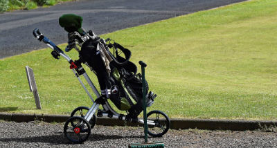 golfer push cart review